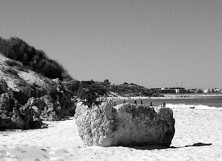 Limestone outcrops and formations at South Cottesloe