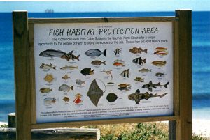 Fish Habitat Protection Area - community educational signage