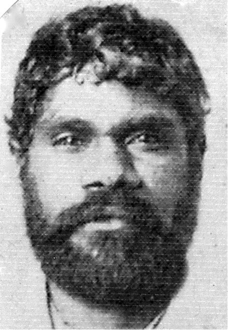 Headshot of Aboriginal prisoner Johnny Cudgel
