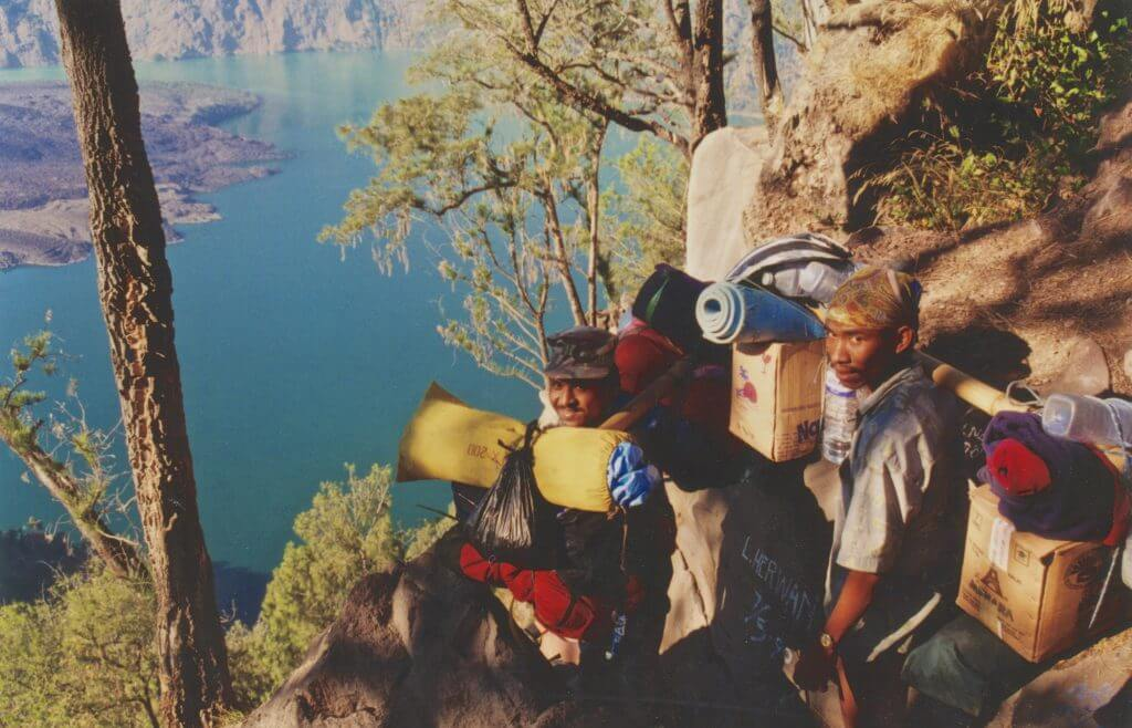 Porters loaded with supplies 1997