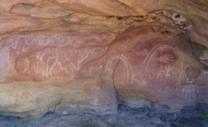 pictographs east of Cue