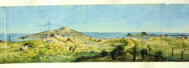 Swan River Settlement circa. 1832 by Jane Eliza Currie courtesy of the State Library of NSW